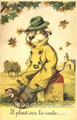 dan004041 - Dresses Dog, Dogs, Postcard Post Card