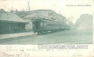 dep001006 - Big Four Cut, Wabash, IN USA Locomotive Train Railroad Depot Post Card Post Card