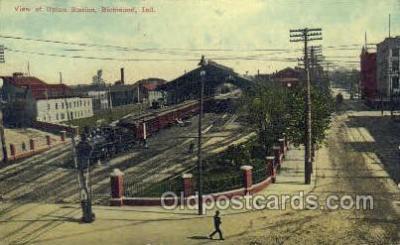 dep001033 - Union Station, Richmond, IN USA Train Railroad Station Depot Post Card Post Card