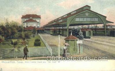 dep001047 - Grand Central Depot, Huston, TX USA Train Railroad Station Depot Post Card Post Card