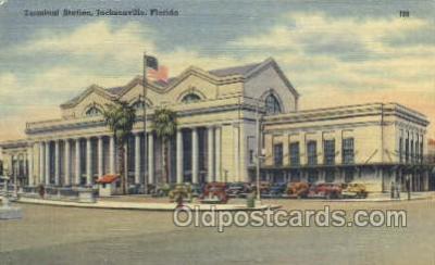 dep001061 - Terminal Station, Jacksonville, FL USA Train Railroad Station Depot Post Card Post Card