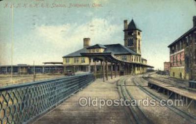 dep001096 - NYNH and HRR station, Bridgeport, CT USA Train Railroad Station Depot Post Card Post Card