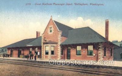 dep001235 - Great northern Passenger Depot, Bellingham, WA, Washington, USA Train Railroad Station Depot Post Card Post Card