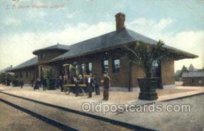 dep001253 - SP Depot, OR, Oregon, USA Train Railroad Station Depot Post Card Post Card