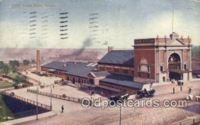 dep001296 - Union Depot, Omaha, NE, Nebraska, USA Train Railroad Station Depot Post Card Post Card