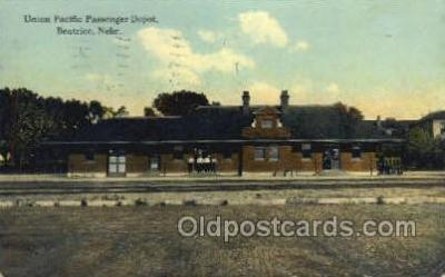 dep001303 - Union Pacific Depot, Beatrice, NE USA Train Railroad Station Depot Post Card Post Card