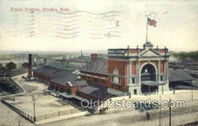 dep001307 - Union Station, Omaha, NE USA Train Railroad Station Depot Post Card Post Card
