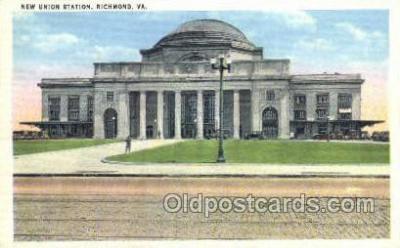 dep001363 - New Union Station, Richmond, VA, Virginia, USA Train Railroad Station Depot Post Card Post Card