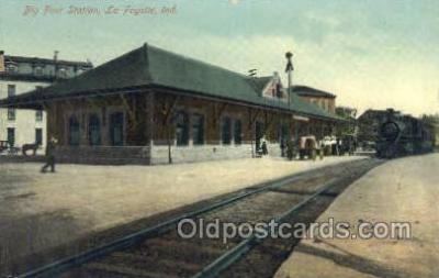 dep001421 - Big Four Station, La Fayette, IN, Indiana, USA Train Railroad Station Depot Post Card Post Card