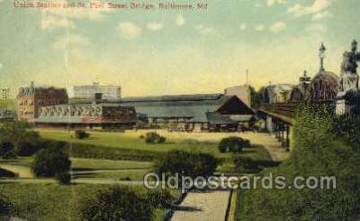 dep001617 - Union Station, St P, Baltimore, MD, Maryland, USA Train Railroad Station Depot Post Card Post Card