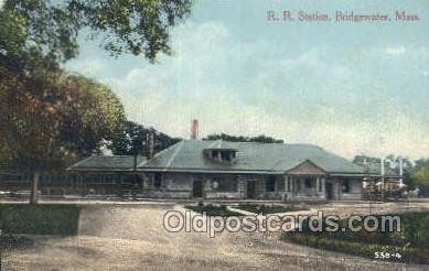 dep001633 - RR Station, Bridgewater, MA Massachusetts, USA Train Railroad Station Depot Post Card Post Card