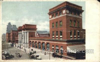 dep001637 - North Union Station, Boston, MA ,Massachusetts, USA Train Railroad Station Depot Post Card Post Card