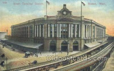 dep001639 - South Terminal Station, Boston , Ma ,Massachusetts, USA Train Railroad Station Depot Post Card Post Card