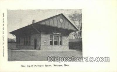 dep001644 - New Depot, Mattapan, MA ,Massachusetts, USA Train Railroad Station Depot Post Card Post Card