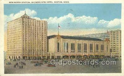 dep001650 - New North Station, Boston, MA , Massachusetts, USA Train Railroad Station Depot Post Card Post Card