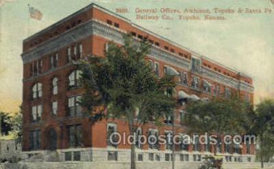 dep001698 - General Offices, Santa Fe RR Company, Topeka, KS , Kansas , USA Train Railroad Station Depot Post Card Post Card