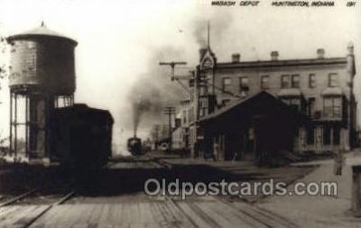 dep001746 - Wabash Depot, Huntington, IN, Indiana, USA Kodak Real Photo Paper Train Railroad Station Depot Post Card Post Card