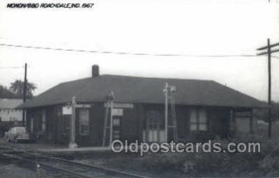 dep001816 - Kodac Paper -Monon B and O Roach dale, IN, Indiana, USA Train Railroad Station Depot Post Card Post Card