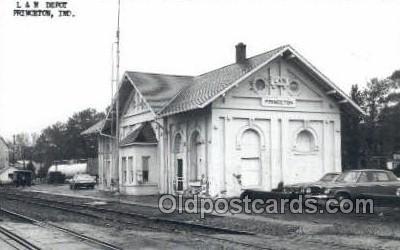dep001831 - Kodac Paper -L and N Depot, Princeton, IN, Indiana, USA Train Railroad Station Depot Post Card Post Card