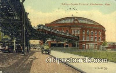 dep001903 - Sullivan Square Terminal, Charlestown, MA, Massachusetts, USA Depot Postcard, Railroad Post Card