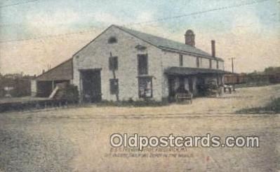 dep001949 - B & O Freight Depot, Frederick, MD, Maryland, USA Depot Postcard, Railroad Post Card