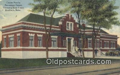 dep001959 - Union Pacific, Hastings, NE, Nebraska, USA Depot Postcard, Railroad Post Card
