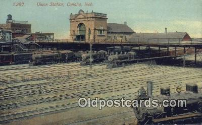dep001962 - Union Station, Omaha, NE, Nebraska, USA Depot Postcard, Railroad Post Card