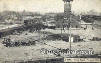 dep001965 - Union Depot, Fremont, NE, Nebraska, USA Depot Postcard, Railroad Post Card