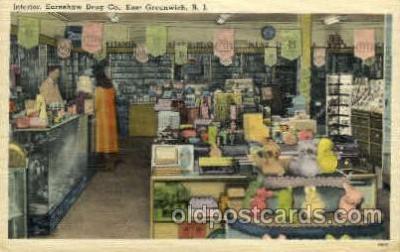 dgs001010 - Earnshaw Drug Co., RI, Rhode Island, USA Drug Store, Stores, Postcard Post Card