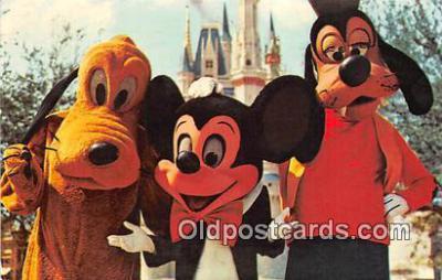 Mickey Mouse, Pluto, & Goofy