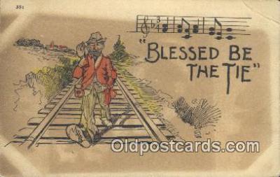 drk001067 - Blessed Be the Tie  Postcard Post Cards Old Vintage Antique