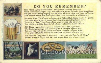 drk001076 - You Remember  Postcard Post Cards Old Vintage Antique