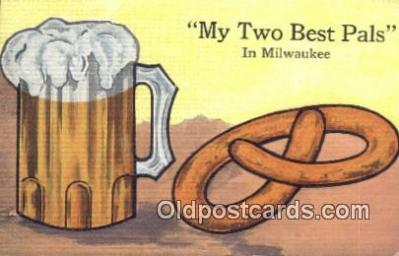 drk001081 - Twon Best Pals Milwaukee, Wis, USA Postcard Post Cards Old Vintage Antique