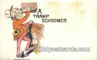 drk001090 - Tramp Schooner  Postcard Post Cards Old Vintage Antique