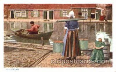 dut001054 - Volendam Dutch Children Old Vintage Antique Postcard Post Card