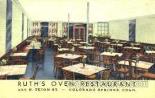DNR001028 - Ruth's Oven Rest. Colorado Springs, Co. USA Postcard Post Card