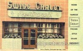 DNR001030 - Swiss Chalet, Colorado Springs, Colorado USA Postcard Post Card