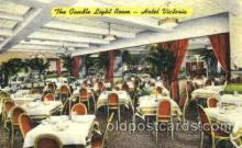 DNR001040 - Candle Light Room, Hotel Victoria, New York, NY USA Postcard Post Card