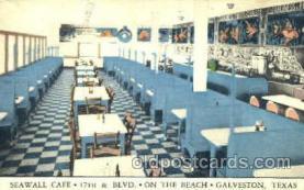 DNR001048 - Seawall Café, Galveston Texas, USA Postcard Post Card