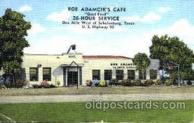 DNR001050 - Bob Adamcik's Café, Schulenburg, Texas, USA Postcard Post Card