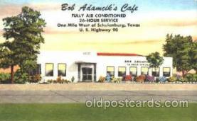 DNR001053 - Bob Adamcik's Café, Schulenburg, Texas, USA Postcard Post Card