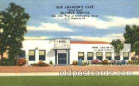 DNR001054 - Bob Adamcik's Café, Schulenburg, Texas, USA Postcard Post Card