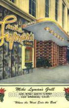 DNR001083 - Mike Lyman's Grill, Los Angeles, Calif. USA Postcard Post Card
