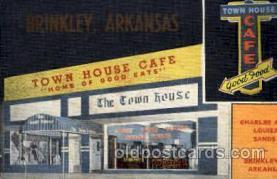 DNR001086 - Town House Café, Brinkley, Arkansas, USA Postcard Post Card