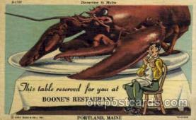 DNR001096 - Boone's Restaurant, Portland, Maine, USA Postcard Post Card