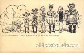 dam001006 - The Whole Dam, Damm, Family Postcard Post Card