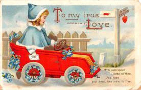 dam002013 - Valentines Day Post Card Old Vintage Antique Postcard