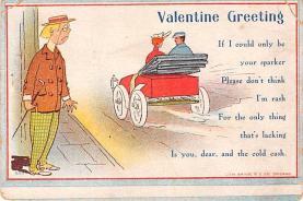 dam002019 - Valentines Day Post Card Old Vintage Antique Postcard
