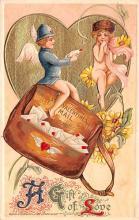 dam002021 - Valentines Day Post Card Old Vintage Antique Postcard