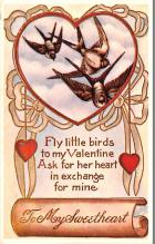 dam002023 - Valentines Day Post Card Old Vintage Antique Postcard